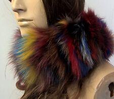 Multi Mix Colori reale vera pelliccia di volpe pelliccia Scalacollo basso di lenza Sciarpa Unisex