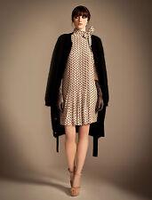 Temperley London Beige Crest Dress SIZE 8 UK RRP £265 F1*