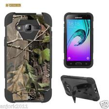 Tree Camo Shockproof Case w/Stand Cover for Samsung Galaxy Express Prime J3 Sol