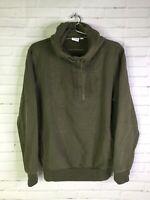Puma Mens Size M Archive Embossed Logo Long Sleeve Hoodie Sweatshirt Army Green