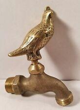 Vintage *Brass / Bronze Quail Outdoor Water Faucet Hose Spigot Spicket Tap