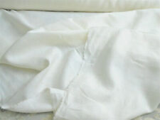 100% Linen Fabric natural white  5.5 oz. 1 linear yard BTY  59