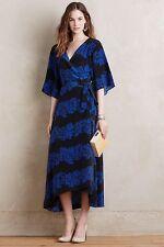$398 NWT Anthropologie Circe Silk Wrap Maxi Dress Sz L By Burning Torch