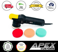 Apex Customs Grasshopper Mini 12mm Dual Action Polisher 3x Foam Pads Polishing