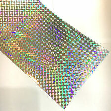 Silver Prism Mosaic Sign Vinyl  24 Inch x 10 feet, Holographic