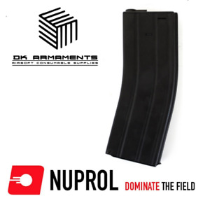 Official Nuprol Metal 370 round Hi-Cap magazine for Airsoft M4 M16 style AEG HPA