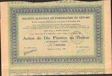 Société Agricole & Forestière de YÊN-MY (HANOÏ TONKIN) (H)