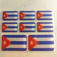 Pegatinas Cuba Pegatina Bandera Cuba Vinilo Adhesivo 3D Relieve Resina