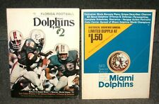 MIAMI DOLPHINS '72 & 1973 MIAMI DOLPHINS SPECIAL ANNUAL FLORIDA FB MAGS 2 DIFF