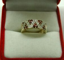 Very Nice 9ct Gold Pink Tourmaline And Diamond Ladies Dress Ring