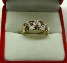 Very Nice 9ct Gold Pink Tourmaline And Diamond Ladies Dress Ring