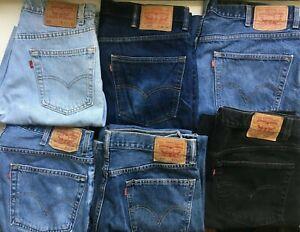 """Levi`s 550 Men`s Relaxed Fit Jeans Grade A """"Minus"""" Authentic Vintage Denim"""