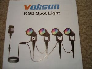 4Pack RGB Landscape LED Spot Lights Waterproof IP66 Outdoor Garden Yard