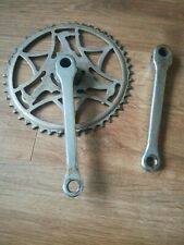 vintage Raleigh cotter pin cranks 48 tooth used square arms 1950's