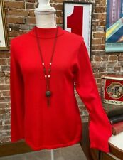 Joan Rivers Red Long Sleeve Mock Turtleneck Sweater New
