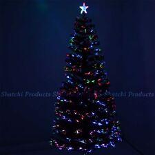 7ft 210cm shatchi FIBRE OTTICHE Albero di Natale Decorazione di Natale vari effetti