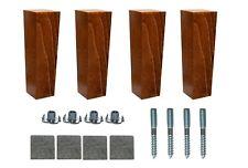 4x Wooden Furniture 6'' Tapered Feet Legs Walnut Beech For Sofa Chest Stool