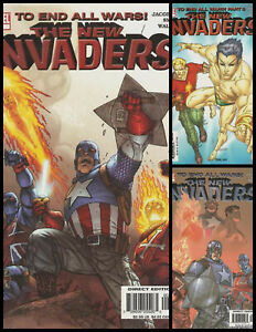 °THE NEW INVADERS 1 BIS 3: TO END ALL WARS° US Marvel 2004 Captain America