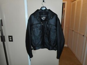 "Vintage 2002 Men's Harley-Davidson ""Nevada"" Black Leather Jacket 3XL LINER NWOT"