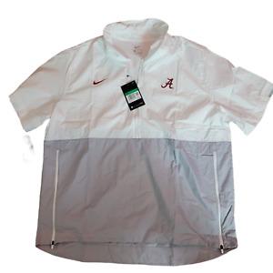 Nike Alabama Crimson Tide Short Sleeve On Field Windbreaker Men's XL CQ5149-100