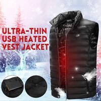 Gilet chauffant pour hommes Gilet pour homme USB Pad électrique Veste d'hiver EB