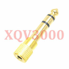 4pc Adapter converter 6.35mm male to 3.5mm female jack stereo TRS gold Headphone