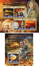 Great Fire of London Great Britain Pepys Griffier Sierra Leone MNH stamp set