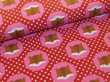 Jersey mit Füchsen Punkte rosa rot Fuchs süß gepunktet Fuchskopf im Kreis