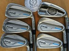 PING G i Series E1 Irons - 5 - PW -  SENIOR / SR / A FLEX SHAFTS - GREEN Dot