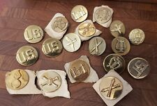 Lot of Vintage US Military Brass Lapel Pin Badges
