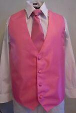 JEAN YAES, of Paris, Pink Vest,  Size XL, Great Design, Soft Satin (V-16)