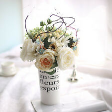 Artificial Fake Rose Bunch Flower Real Touch Wedding Bouquet Bridal Home Decor