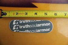 TRUTH SOUL ARMOR Rare Clothing 90's C1 Vintage Surf Skate Style STICKER