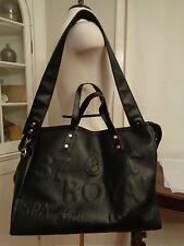 """BARBARA RIHL Paris extra large messenger bag """"Royal Spa"""" Clarins embossed"""