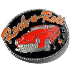 Buckle Rock-n-Roll, mit Cabrio in Rot, US-Cars, Gürtelschnalle