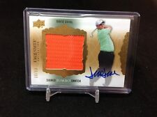 2014 EXQUISITE COLLECTION GOLF DAVID DUVAL JUMBO SWATCH AUTO  /99