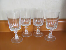 "Cristal D'Arques-Durand Louvre - Set of 4 Water Goblets/Glasses  6 5/8"""