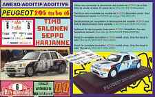 ANEXO DECAL 1/43 PEUGEOT 205 TURBO 16 T.SALONEN R.MONTECARLO 1985 (01)