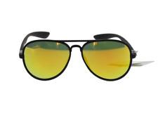 Lunettes solaire aviateur verres teintés jaune miroir +  Pochette à lunette.