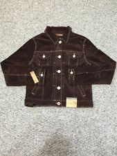 NWT Amethyst Medium Corduroy Brown Jean Jacket Bling Buttons A2