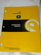 John Deere 522 Snow Blower Operator's Manual Om-Ty20767 Issue G5