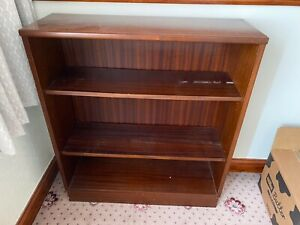 1960s Style Mahogany Open Bookcase/Shelving Unit with Adjustable Shelves