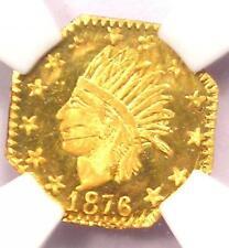 1876 Indian 25C California Gold Quarter 25C Coin BG-786 - NGC Uncirculated (MS)