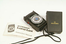 GOSSEN Luna Lux Light Meter EX++ Cond with Instructions Accurate