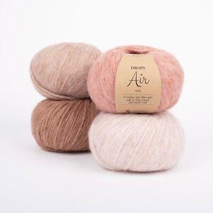 DROPS Air Baby alpaca + merino wool SUPER SOFT Light Blow aran Knitting yarn 50g