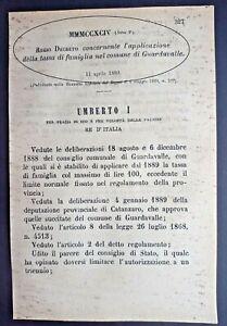 GUARDAVALLE(CZ)-REGIO DECRETO X APPLICAZIONE DELLA TASSA DI FAMIGLIA-2735