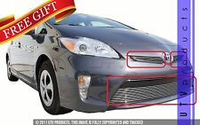 GTG 2012 - 2015 Toyota Prius 3PC Polished Overlay Combo Billet Grille Grill Kit