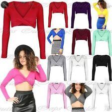Langarm Damenblusen, - tops & -shirts mit V-Ausschnitt