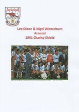 Lee dixon & nigel winterburn arsenal 1991 original hand signed magazine cutting