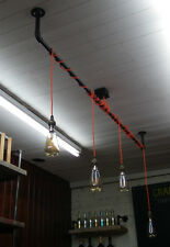 Hanging Cluster Lamp industrial pipe urbanpipe retro